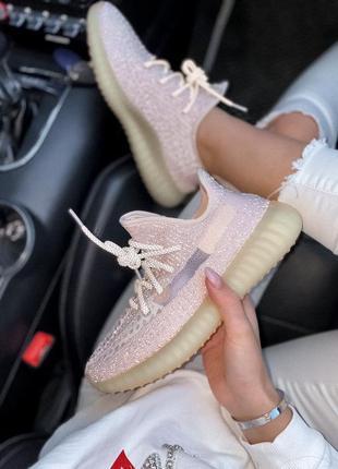Идеальные женские кроссовки adidas yeezy 350 v2  synth