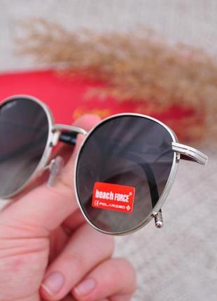 Фирменные круглые солнцезащитные очки beach force polarized унисекс
