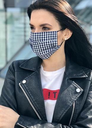 Тканевая маска в клетку