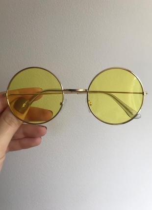 Стильные круглые желтые солнцезащитные очки, хит сезона, бестселлер 2020 в наличии