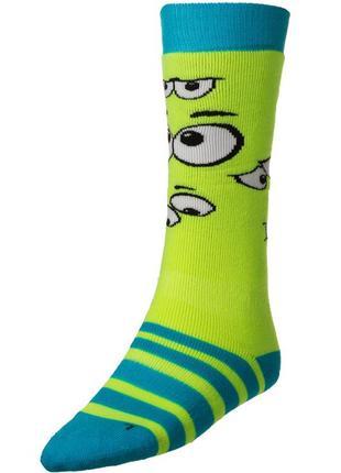 Шкарпетки лижні дитячі relax happy rs035 s, m green-blue