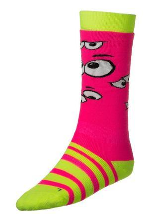 Шкарпетки лижні дитячі relax happy rs035a s, m green-pink