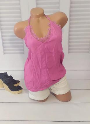 Блуза, топ, пеньюар розовый, s/m
