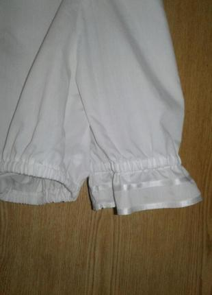 Белая укороченная блузка, баварская национальная блузка, м-l.2 фото