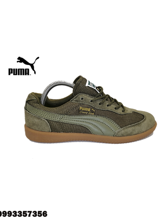 Мужские кеды puma suede liga classic star trainers green