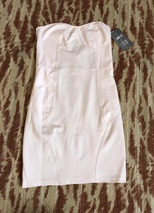 Летнее бандажное платье мини