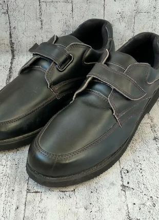 Супер легкие мужские туфли на липучке 👞, 44р, натуральная кожа