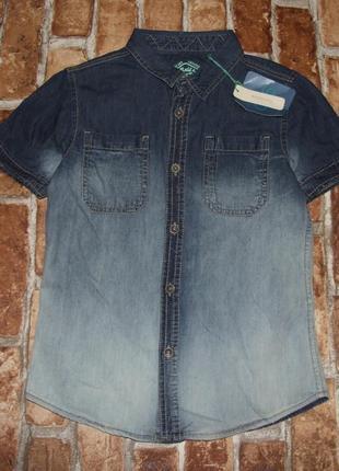 Тениска рубашка джинсовая новая мальчику 4 - 8 лет  ovs