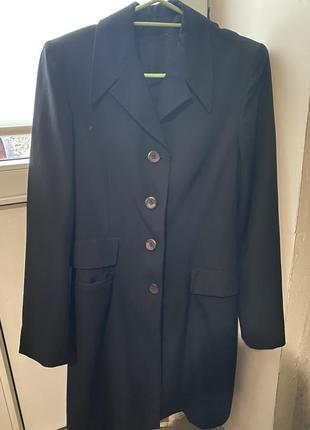 Пиджак чёрный женский длинный