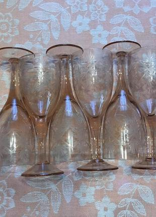 Бокалы стекло хрусталь