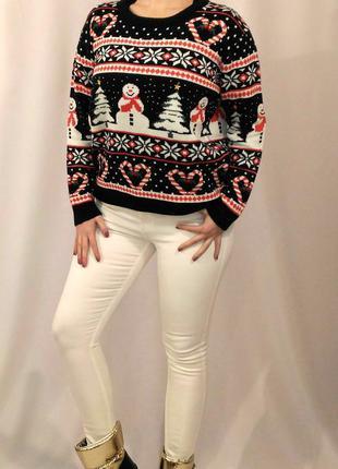 855 двойной новогодний свитер atmosphere