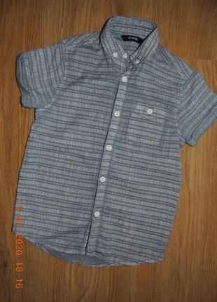 Рубашка 4-6р. короткий рукав сорочка george