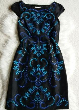 Платье с вышивкой monsoon, сбоку на молнии