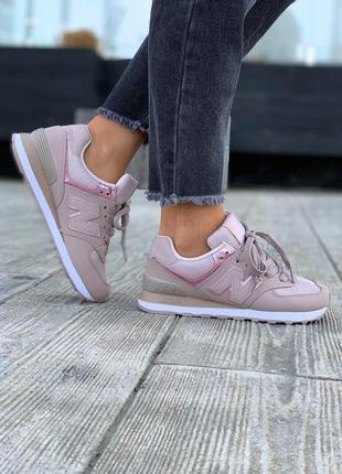 Шикарные женские кроссовки new balance в розовом цвете (весна-лето-осень)😍