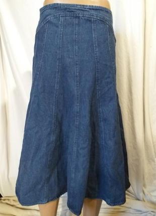 Юбка, джинсовая.3 фото