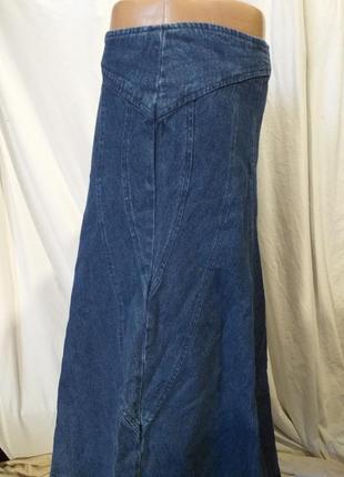 Юбка, джинсовая.2 фото