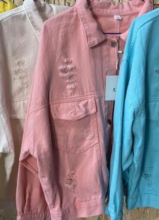 Джинсовая куртка с вышивкой в разных цветах стиль zara