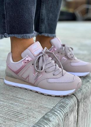 Шикарные женские кроссовки new balance розовый цвет (весна-лето-осень)😍
