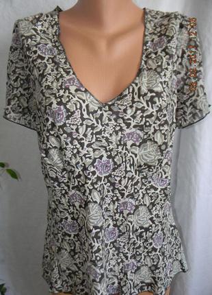 Супер легкая блуза натуральны шелк east