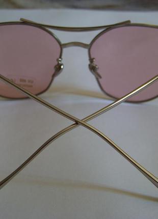 Солнцезащитные очки с усиленной оправой метал и розовой дымчатой линзой антирефлекс8 фото