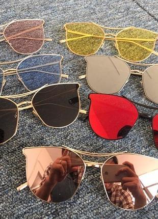 Солнцезащитные очки с усиленной оправой метал и розовой дымчатой линзой антирефлекс9 фото
