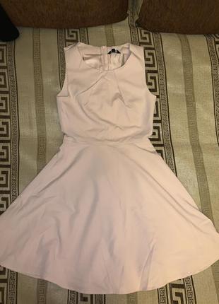 Платье, сарафан пудрового нежно-розового цвета, размер 8-10
