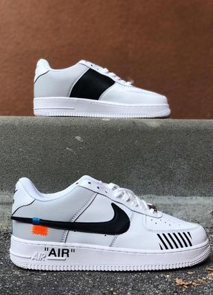 Кроссовки nike air force 1 off white white