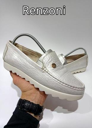 Кожаные мокасины туфли renzoni