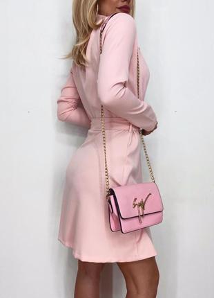 Нежное платье пиджак 👠костюмка люк🛍️на запах2 фото