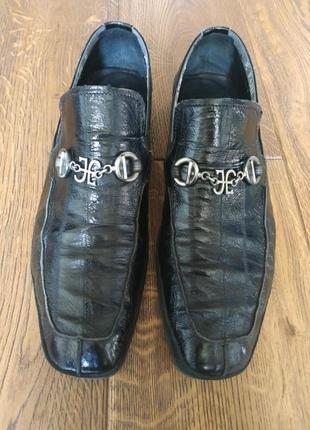 Туфли fabi из кожи угря