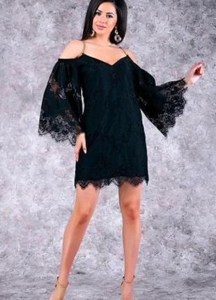 Крутое платье poliit с золотистыми цепочками! ажурное богатое кружево!  как asos, h&m,