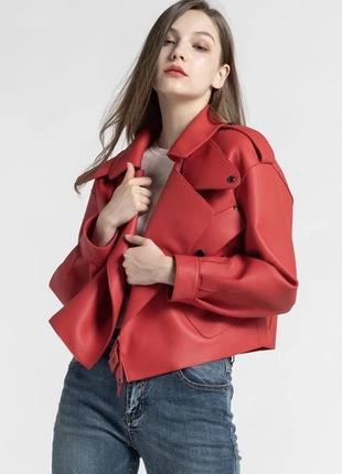 Модная женская короткая куртка демисезонная