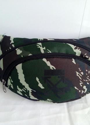 Поясная сумка бананка сумка на пояс тканевая камуфляж милитари . .