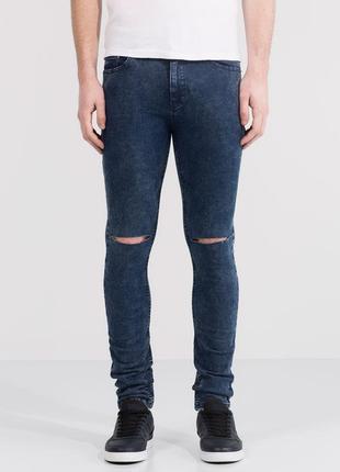 Sale мужские джинсы суперскинни скинни зауженые pull&bear eur 38 s - m