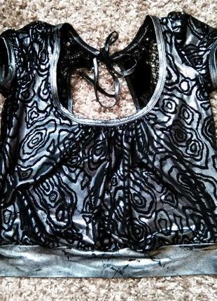 Шикарный серебристый топ под металлик cimena donna
