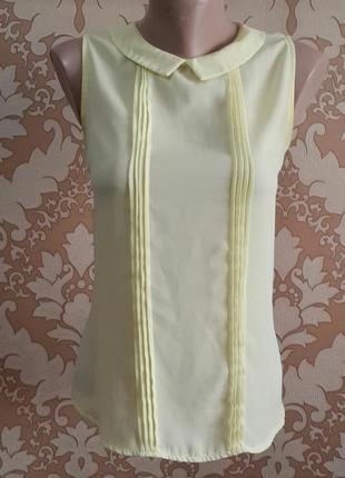 Нежно желтая блузочка. dilvin. размер 36 ( s ).