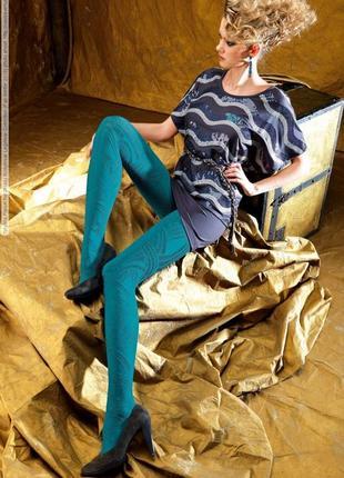 Итальянские фирменные плотные фактурные колготы oroblu pattie - 80den
