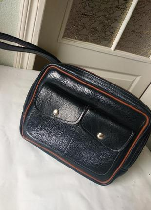 Кожаная мужская сумка для документов барсетка кошелек раритет