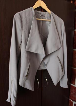 Тканевая косуха, асимметричный пиджак