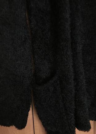 Черный кардиган с карманами