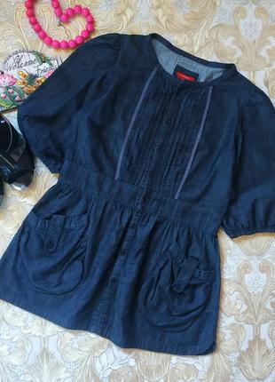 Джинсовая рубашечка. на бирке- 12 р-р(46)