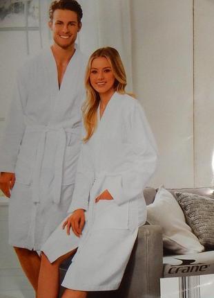 Стильный халат для него и для нее от crane. кимоно стиль. африканский хлопок, размер л.