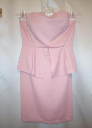 Розовое платье летнее весеннее eva e lola