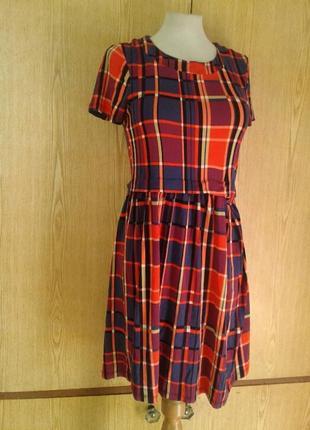 Вискозное яркое платье, xs-l. asos