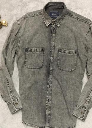 Джинсовая рубашка от topman