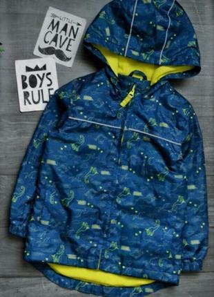 Классная куртка ветровка  на флисе 2-3года george