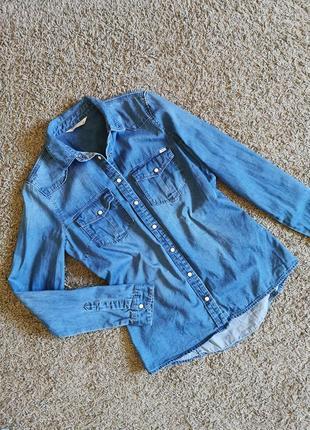 Джинсова сорочка джинсовая рубашка