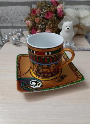 Кофейная чашечка ручная роспись египет
