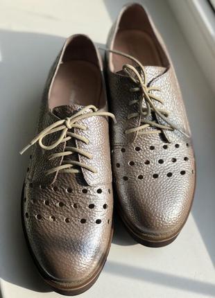 Кожаные туфли низкий ход