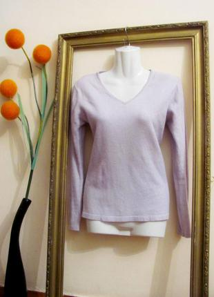 Сиреневый кашемировый джемпер (пуловер), р.s-м